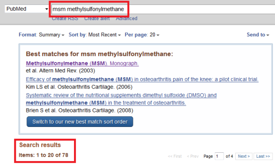 PubMed (PubMed ist eine englischsprachige textbasierte Meta-Datenbank mit medizinischen Artikeln bezogen auf den gesamten Bereich der Biomedizin der nationalen medizinischen Bibliothek der Vereinigten Staaten (National Library of Medicine, NLM. Jedem Eint